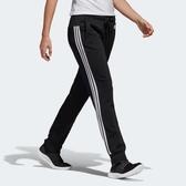 Adidas ESS 3-S LIN PN [S97113] 女 運動 休閒 訓練 縮口 長褲 棉質 修身 愛迪達 黑