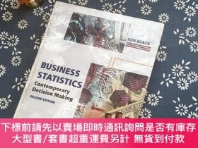 二手書博民逛書店BUSINESS罕見STATISTICS Contemporary Decision Making SECOND
