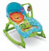 費雪 Fisher-Price 可愛動物可攜式兩用安撫躺椅/搖椅 W2811【限宅配】
