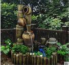 大型中式流水噴泉樹樁魚池盆景室內景觀陽台庭院落地水景假山擺件(主圖款)
