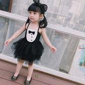 唐裝女童旗袍 禮服蕾絲裙周歲生日蝴蝶連身裙夏兒童【一條街】