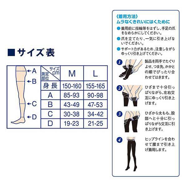 Dr.Scholl QTTO 爽健 冬季限定發熱 壓力 美腿襪 M
