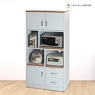 【米朵Miduo】3尺塑鋼電器櫃 防水塑鋼家具 塑鋼櫥櫃(附插座)