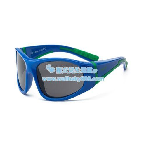 美國RKS音速閃電太陽眼鏡-綠深藍(4-7/7-10歲)[衛立兒生活館]