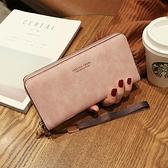 女士手拿長款錢包2020新款韓版手包多功能卡包手機包零錢包女錢夾 青木鋪子