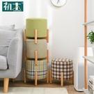初木家用凳子換鞋凳時尚矮凳創意客廳沙發凳茶幾凳實木小板凳圓凳YYP【快速出貨】
