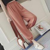 大尺碼長髮燈籠褲大尺碼哈倫褲200斤胖mm薄款闊腿女哈倫褲寬鬆長髮子 1件免運