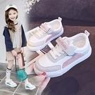 女童帆布鞋新款春秋季新款正韓百搭兒童板鞋小學生女孩白鞋子時尚