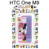 迪士尼透明軟殼 HTC One M9 / S9 [字母] 米妮【Disney正版授權】