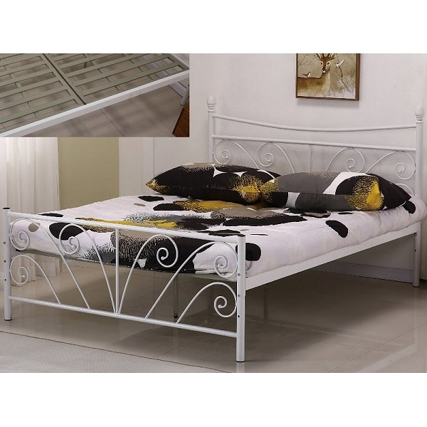 床架 床台 鐵床 SB-598-1 丹尼5尺白色雙人鐵床 (不含床墊) 【大眾家居舘】