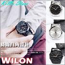 WILON 簡約主義 八角圓框極簡指針 金屬帶情侶款手錶 激似CK款 男錶 女錶 中性錶 【KIMI store】