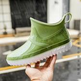 雨鞋 雨鞋男短筒低筒雨靴水鞋膠鞋男士歐美風套鞋防水防滑春夏輕便時尚