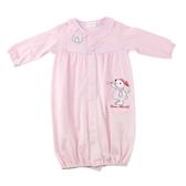 【愛的世界】純棉小花兔長袖兩用嬰衣/3~6個月-台灣製- ★幼服推薦