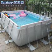 大型泳池大型支架游泳池超大號兒童游泳池成人家用 家庭泳池免充氣游泳池台北日光igo