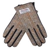 觸控手套 真皮-羊毛呢拼接山羊皮加絨女手套4色73wm60【巴黎精品】