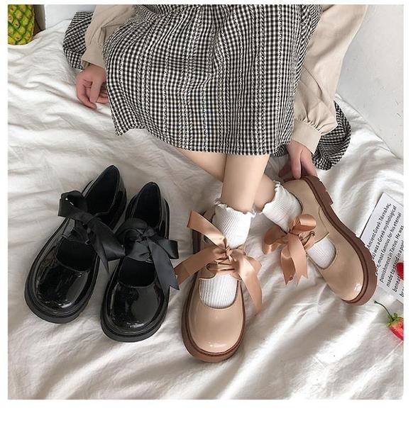 娃娃鞋 新款春日系小皮鞋女jk制服學生厚底瑪麗珍鞋小清新大頭 - 風尚3C