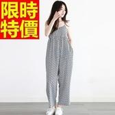 吊帶褲-耀眼典雅顯瘦女休閒長褲2色59g46【巴黎精品】