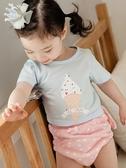 2條 夏季嬰兒純棉隔尿褲男女寶寶練習褲可洗訓練尿布褲學習褲 滿天星