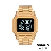 【官方旗艦店】NIXON THE REGULUS SS 美國特種部隊認證錶 閃耀金 鋼錶帶 雙時區 五年續航 美式風格