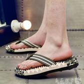 夏季2019新款韓版潮流學生人字拖男士防滑韓版個性休閒沙灘涼拖鞋      良品鋪子