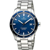 TITONI SEASCOPER海洋探索系列潛水機械錶-藍x銀/41mm 83985SBB-518