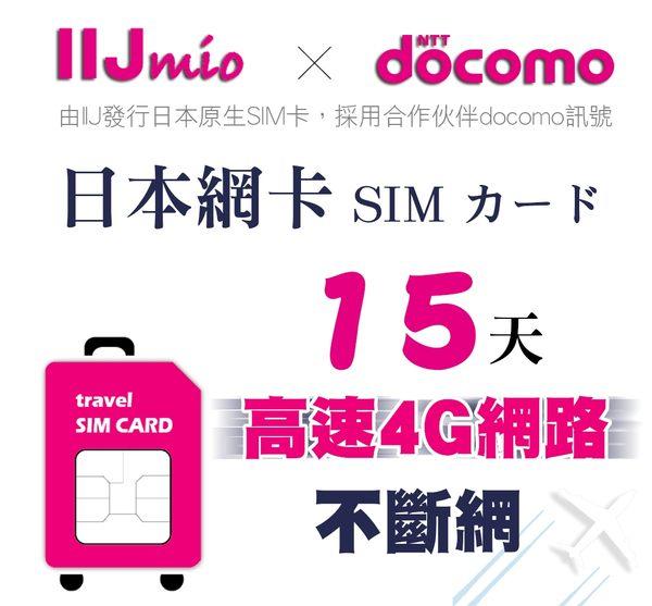 (期限2020/03/30) IIJ官方訊號15天日本網卡,採用docomo訊號,北海道、沖繩皆覆蓋