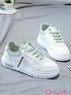 小白鞋 百搭小白鞋女2021新款秋冬季學生加絨休閒運動女鞋老爹板鞋白鞋子 小天使 618