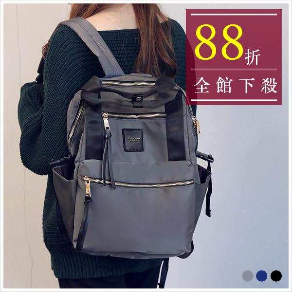 後背包-skyblue自訂超大容量尼龍手提後背包-共3色-A12121649-天藍小舖