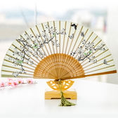 夏季舞蹈便攜女扇子絲綢女士摺疊扇子日本櫻花竹扇古風日式折扇 喜迎中秋 優惠兩天