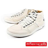 【ferricelli】Hoggar專業高筒男仕運動休閒鞋  白色(F46875-W/NA)