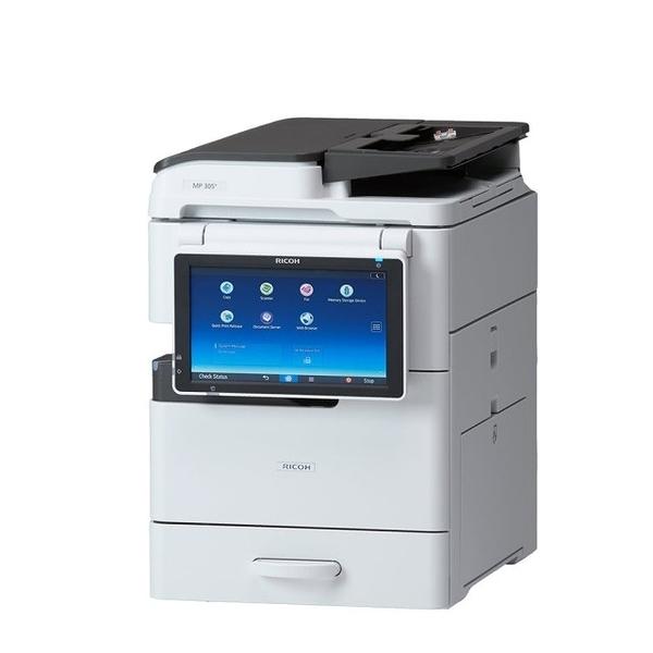 【RICOH】MP 305+SPF A4網路雷射傳真影印機 + 加買二年保固(含免費叫修)