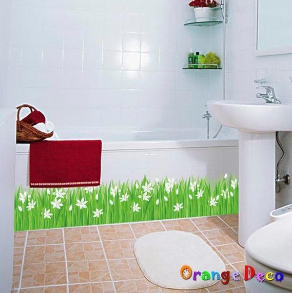 壁貼【橘果設計】綠草 DIY組合壁貼 牆貼 壁紙 室內設計 裝潢 無痕壁貼 佈置