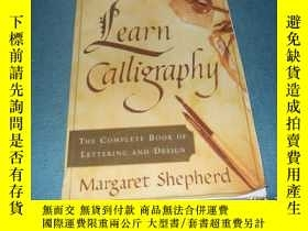 二手書博民逛書店Learn罕見Calligraphy:The Complete