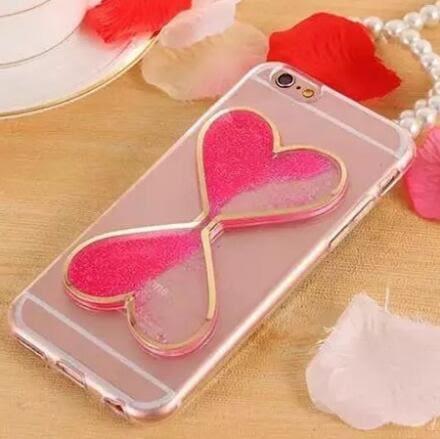 【SZ34】iPhone7/8 plus手機殼 愛心情侶液體流沙沙漏 iPhone 7/8 6plus iphone 6s 手機殼