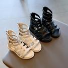 女童涼鞋 女童涼鞋新款兒童夏季小女孩正韓羅馬鞋潮中大童時尚公主涼鞋-Ballet朵朵