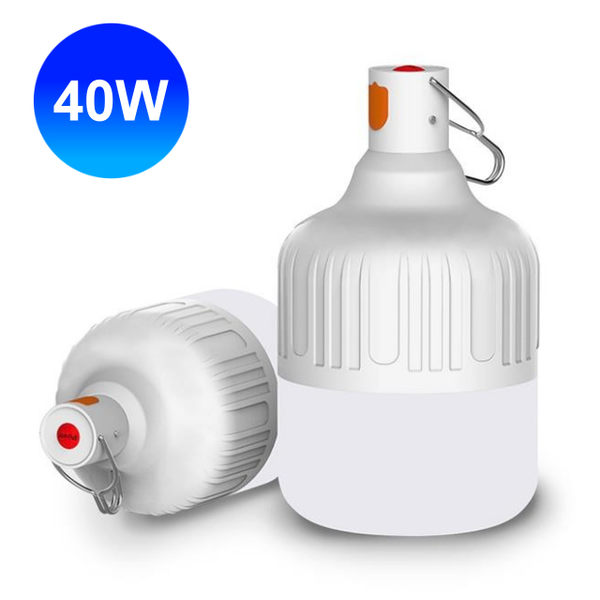 智能充電懸掛式LED燈泡 40W USB充電燈泡 LED燈泡 USB燈泡 手電筒 充電式 探照燈 照明燈 手提燈