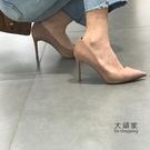 細跟高跟鞋 高跟鞋女細跟2021春秋新款尖頭裸色網紅仙女風職業工作百搭女鞋子 交換禮物
