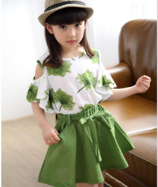 女童2019新款套裝韓版兒童夏裝T恤裙子9短袖洋裝11兩件套女12歲 滿天星