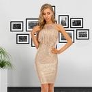 無袖洋裝 2020歐美新款女裝掛脖無袖流蘇拼接修身夏季休閑亮片連衣裙A3051
