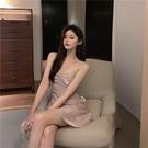 夜店洋裝 吊帶仙女顯瘦氣質收腰荷葉邊短裙夏季新款性感露背連衣裙 降價兩天