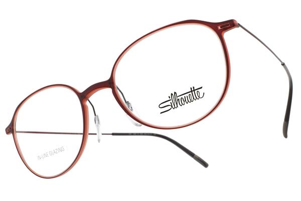 SILHOUETTE 詩樂 光學眼鏡 ST2909 75 3040 (紅) 輕量知性圓 鈦眼鏡 #金橘眼鏡