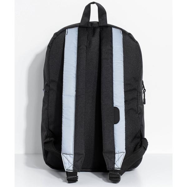 Hsin 8折 現貨 Herschel Settlement 中型 黑色 Reflective 反光 塑膠拉鍊 筆電層 帆布 防潑水 後背包