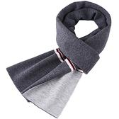 羊毛圍巾-針織簡約加厚保暖男披肩3色73wh41[時尚巴黎]