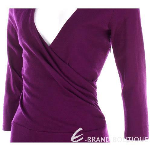 SCERVINO 紫色V領七分袖洋裝 0940412-04