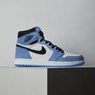 Nike Air Jordan 1 University Blue 男 北卡藍 經典 高筒 休閒鞋 555088-134