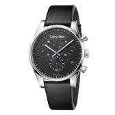 Calvin Klein CK美式簡約三眼皮帶腕錶(K8S271C1)42mm
