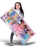 芭比娃娃 女孩公主超大禮盒90厘米別墅城堡婚紗兒童玩具 KB4095【歐爸生活館】TW