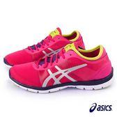 【asics 亞瑟士】(女)輕量訓練運動鞋 慢跑鞋 桃紅色