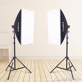 柔光箱2燈套裝攝影棚攝影燈柔光燈柔光箱攝影器材直播  潮流前線
