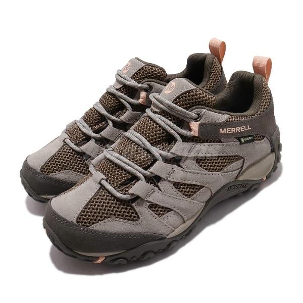 Merrell 戶外鞋 Alverstone GTX 咖啡 橘 女鞋 運動鞋 Gore-Tex 防水 【ACS】 ML033018
